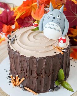 Tarta tronco Totoro