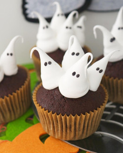 Cupcakes Fantasmas de Merengue