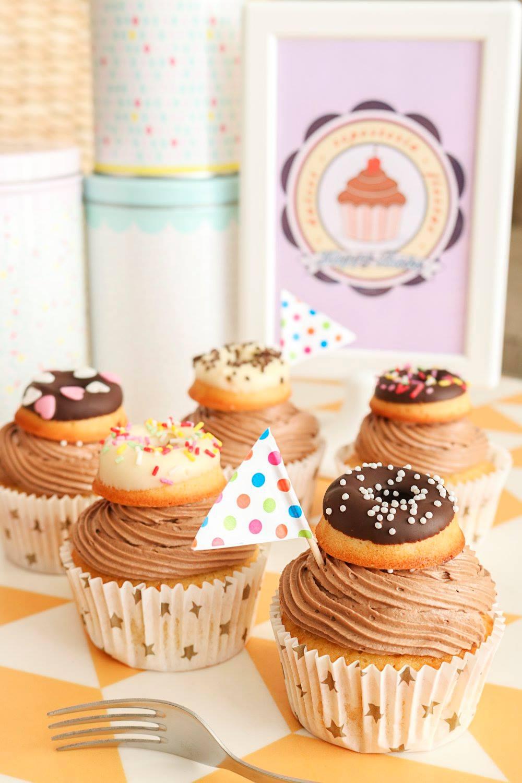 Cupcakes con donut