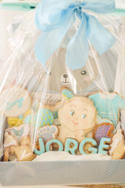 Caja regalo galletas nacimiento