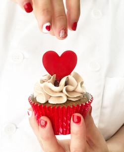 Cupcake topper corazón