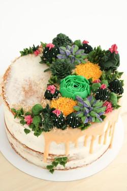 Semi nude cake cactus
