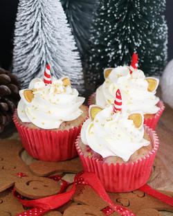 Cupcakes unicornio Navidad