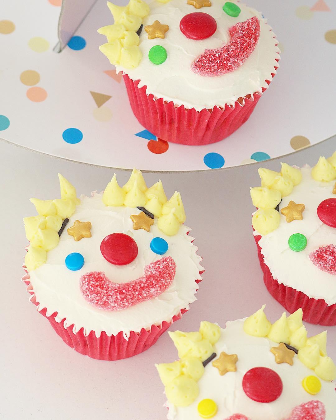Cupcakes payasos