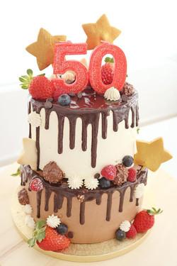 Tarta cumpleaños dos pisos