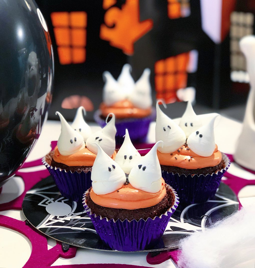 Cupcakes merengues Halloween