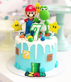 Tarta Super Mario con figuras
