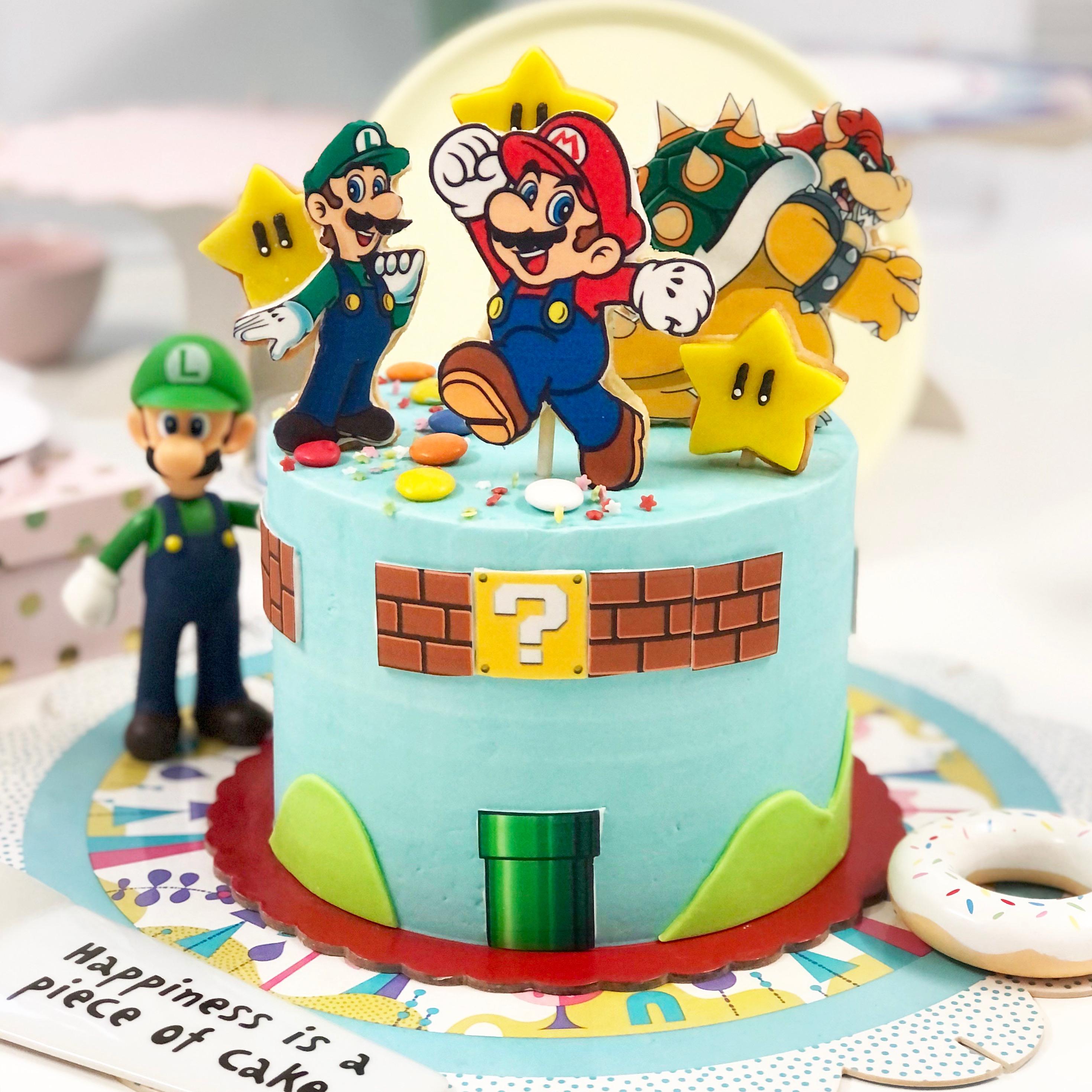 Tarta super Mario galletitas