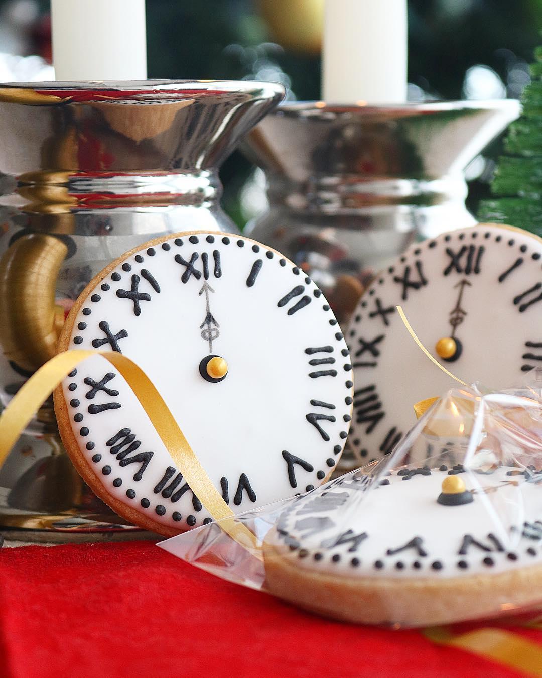 Galletas reloj Fin de año