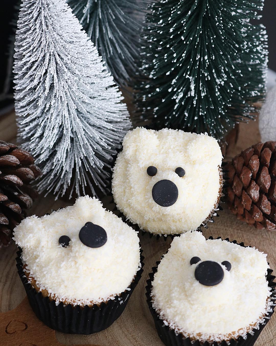 Cupcakes osito polar