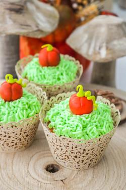 Cupcakes calabaza y especias