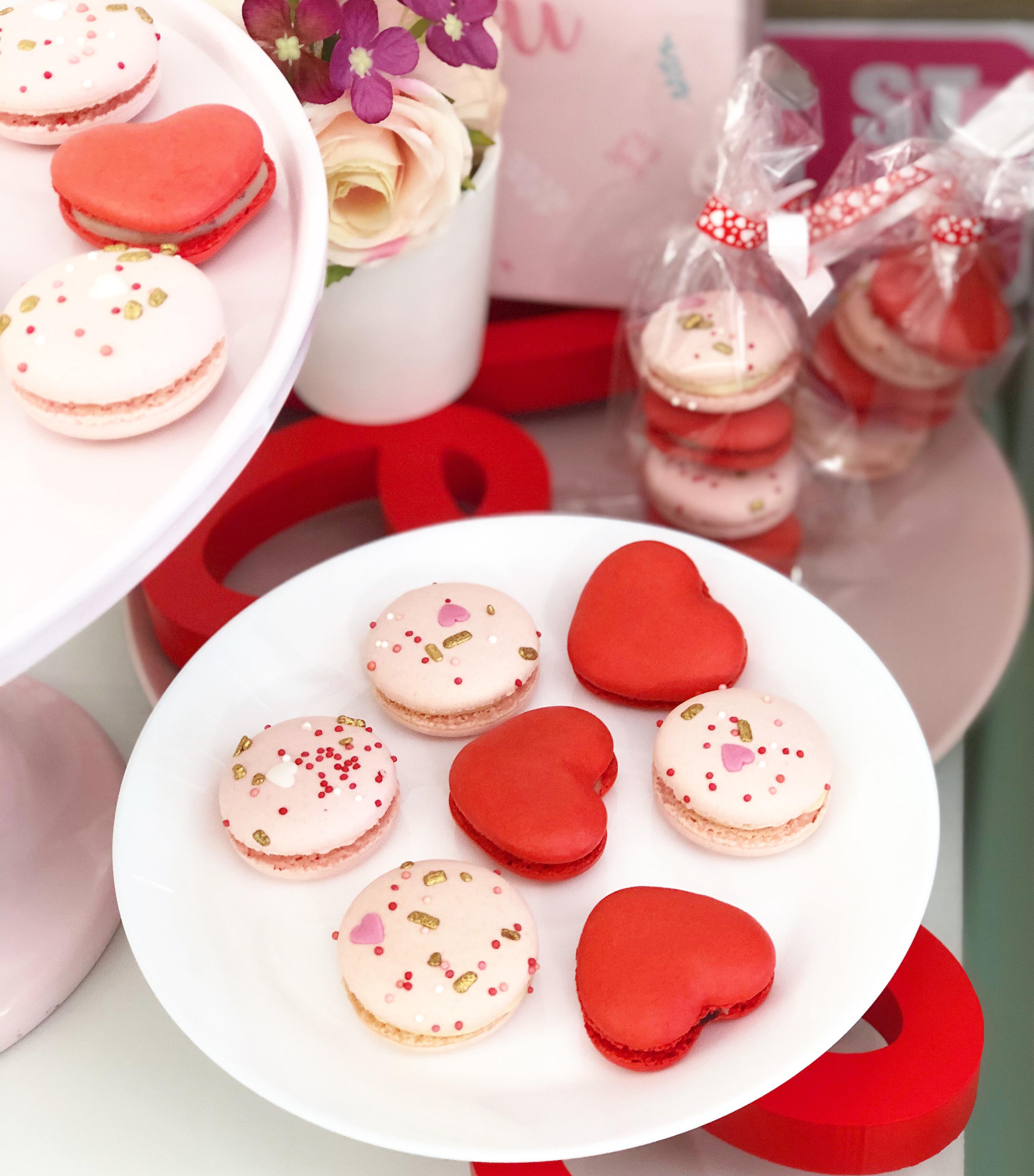 Macarons San Valentin