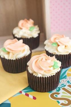 Cupcakes de melocotón