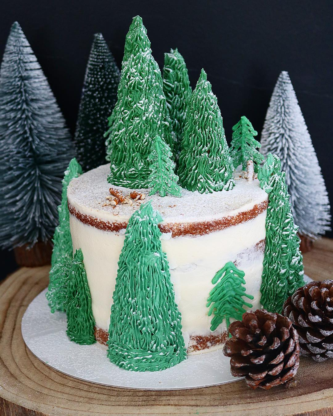 Tarta bosque nevado