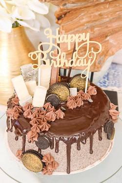 Drip cake de oreo