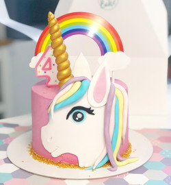Tarta cara unicornio