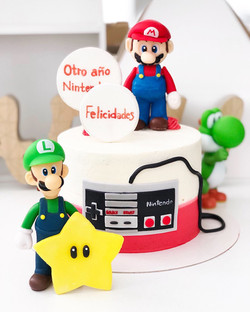 Tarta Super Mario modelado