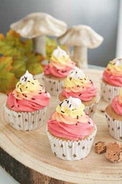 Cupcakes castaña