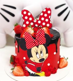 Tarta Minnie roja