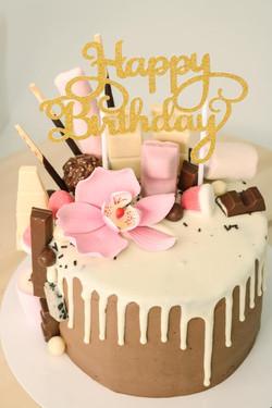 Drip cake de avellana y nutella