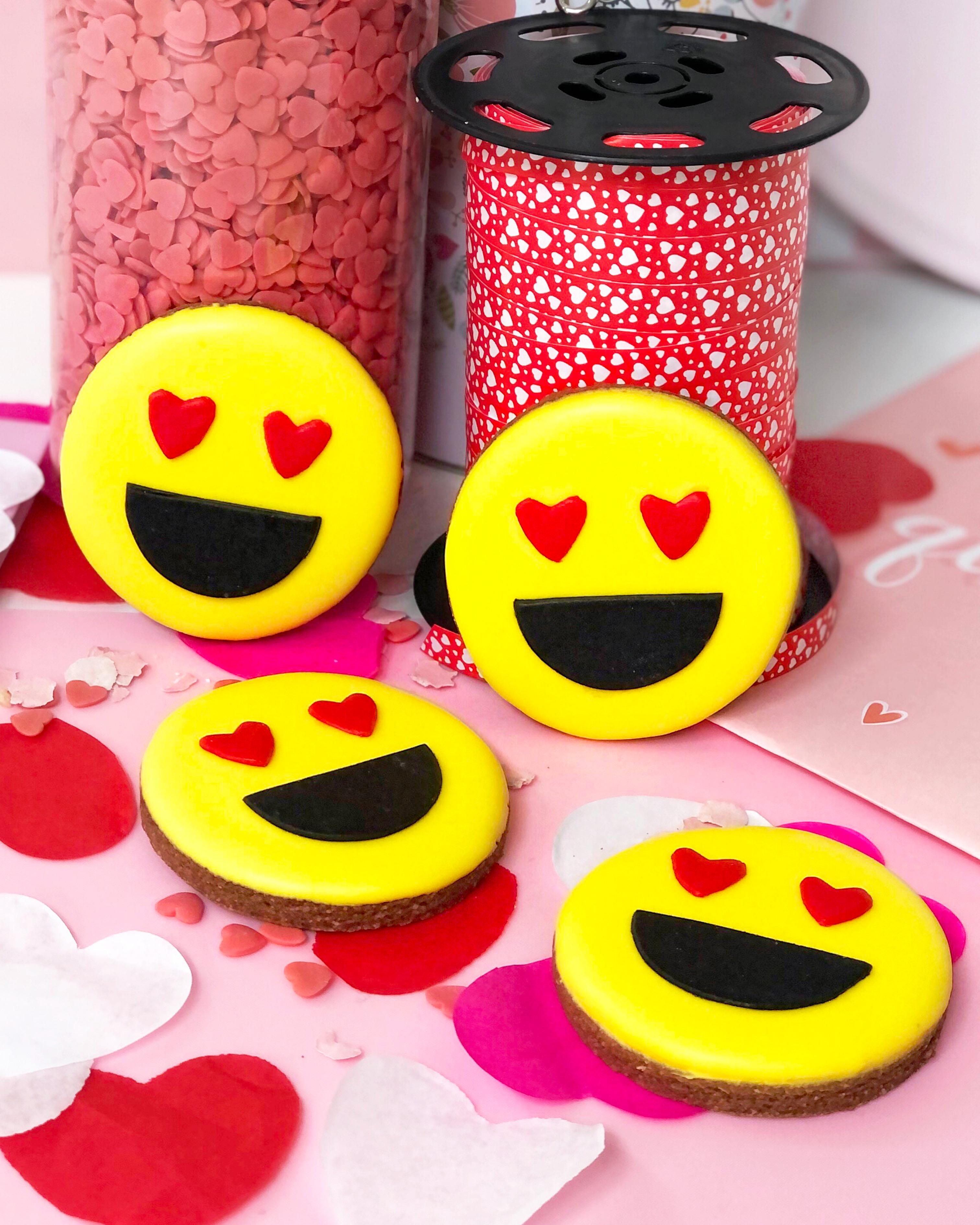 Galleta Emoji enamorado