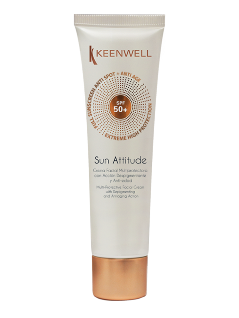 """SUN ATTITUDE"" MULTI-PROTECTIVE FACIAL CREAM WITH DEPIGMENTING AND ANTIAGING ACT"