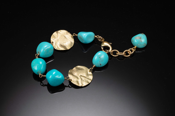 Turqoise and gold filled bracelet.jpg