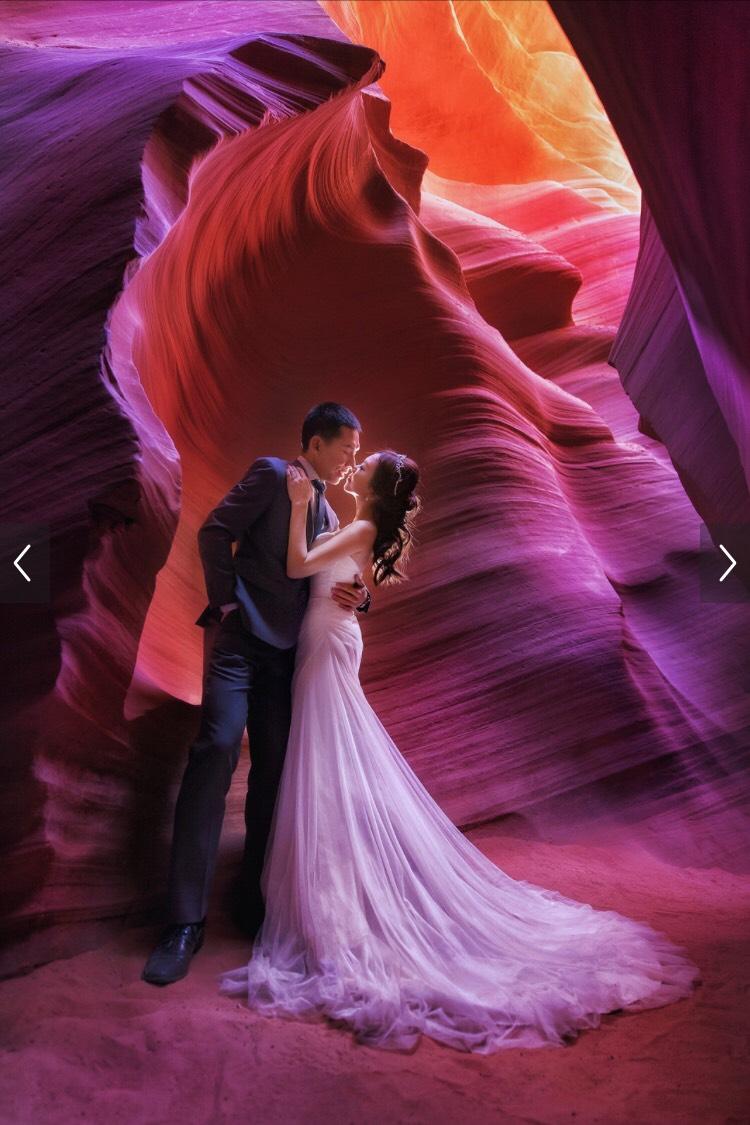 婚禮新秘彩妝造型 Michelle Chang美國羚羊谷婚紗