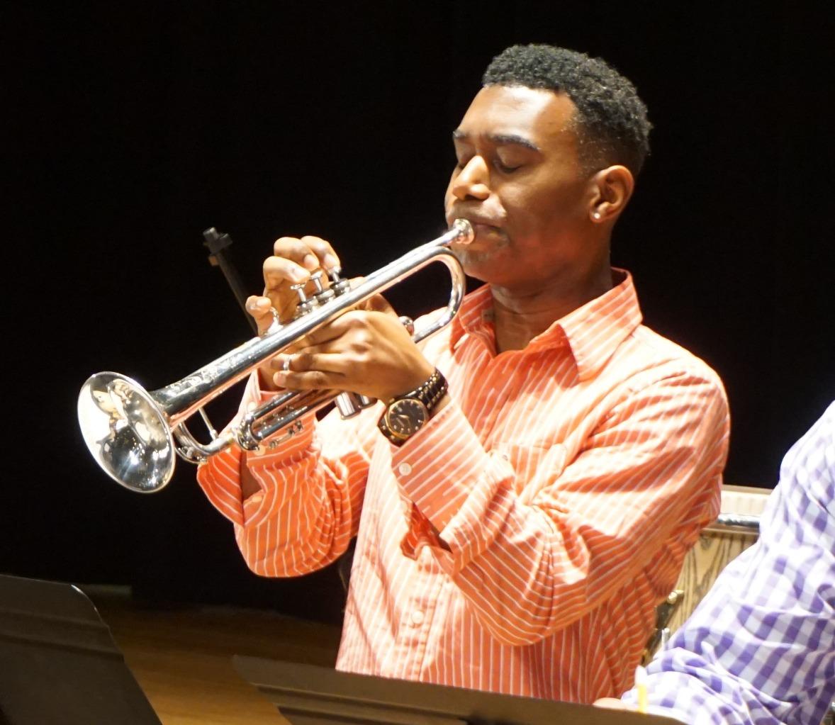 Randall Haywood on trumpet