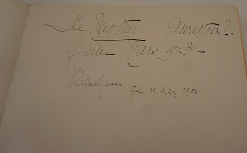 Signture of German Composer, Richard Strauss