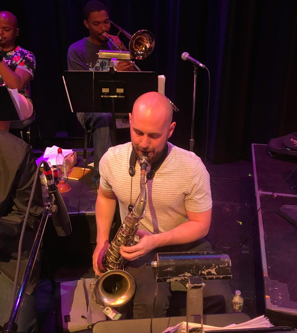 Boyce Griffith on tenor saxophone