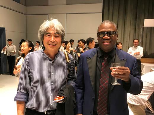 Marcus Roberts with Atsushi Moriyasu