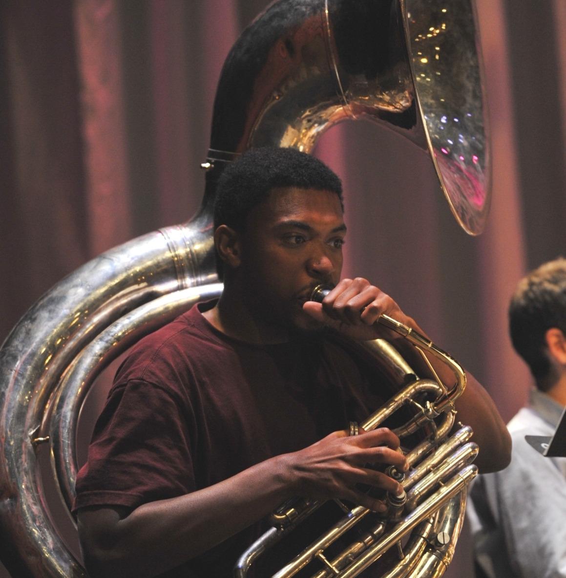 Corey Wilcox on tuba