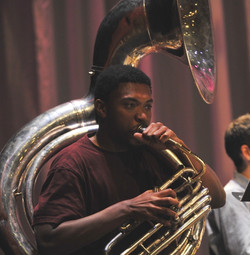 Corey Wilcox on tuba