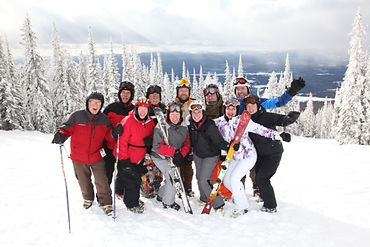 Friars skiing at Whitefish, Montana