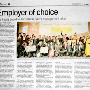 Maybank's first win as the top employer of choice in Malaysia's 100 - The Star MetroBiz