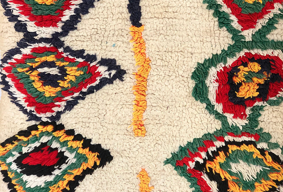 Colorful Hand-Woven Azilal Rug