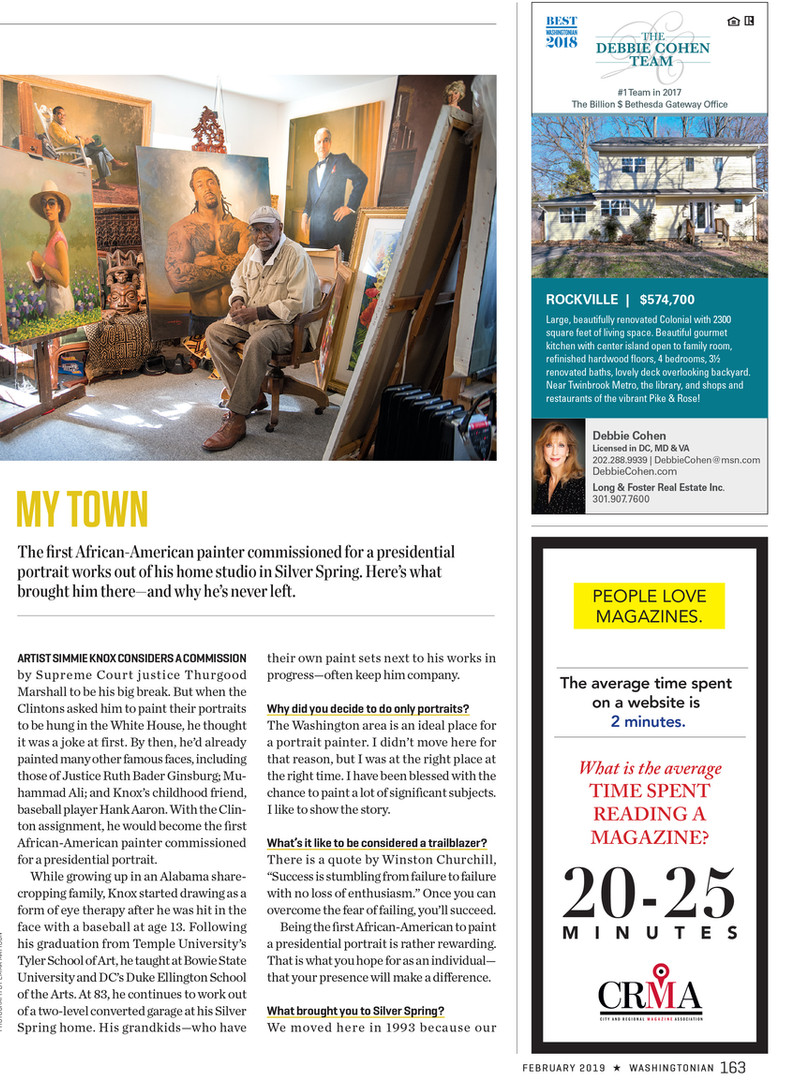 Simmie Knox for Washingtonian Magazine