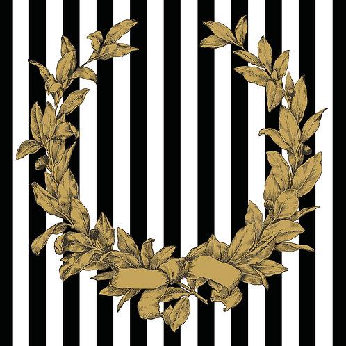 Paper Placemats Gold Wreath Matte 30pk