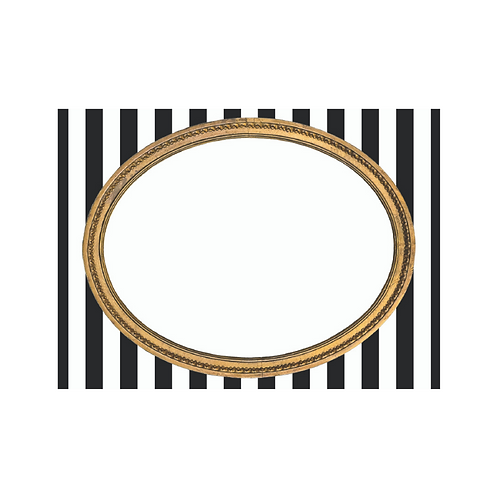 W/SALE Paper Placecards Gold Frame on Stripe 225pk