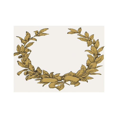 Paper Placecards Gold Wreath 225pk