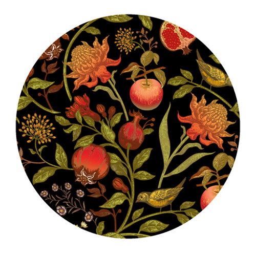Paper Placemats Forest Fruits Round 30pk