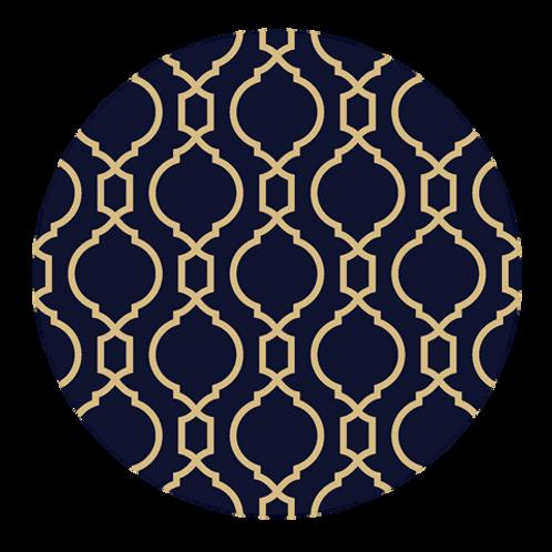 5 x Paper Placemats Geometric Round 30pk