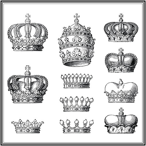 5 x Paper Placemats Crown Matte 30pk