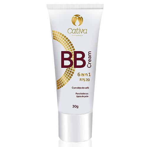 BB Cream 6 em 1 FPS 20 Cativa Natureza 30g