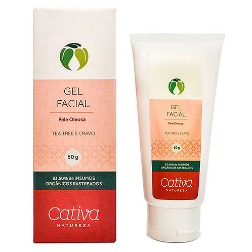 Gel Secativo Facial Pele Oleosa Cativa Natureza 60ml