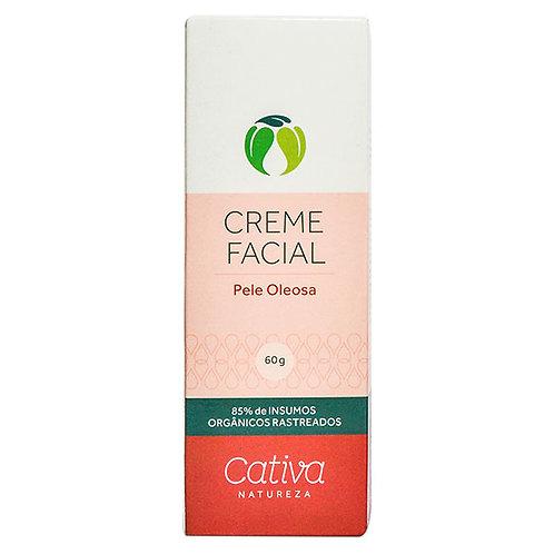 Creme Hidratante Facial Pele Oleosa Cativa Natureza 60g