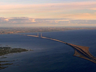 From Denmark to Sweden with a bridge