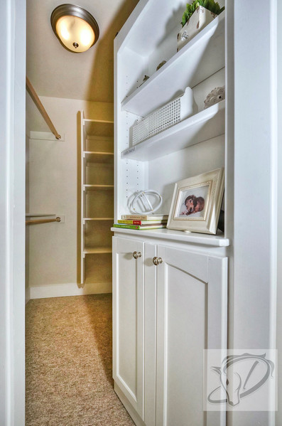 Bookcase is a secret door to the girl's closet!