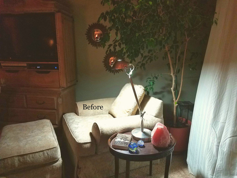 Before - reading nook